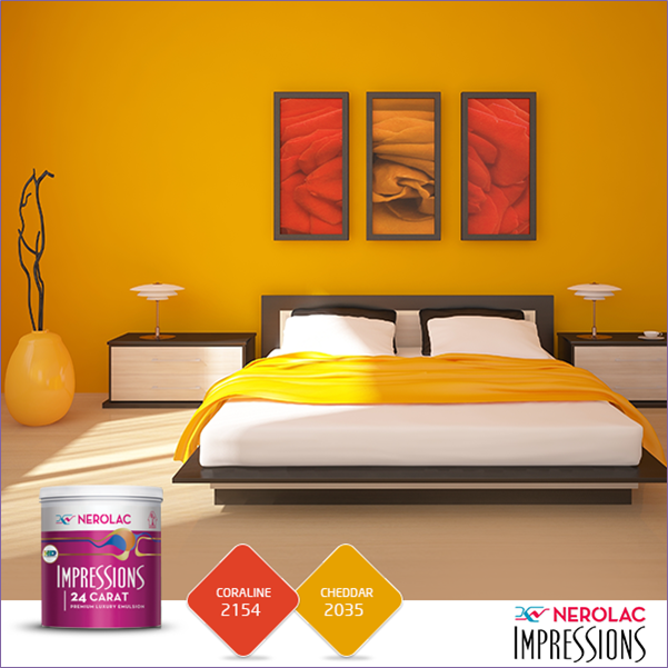 Nerolac paints shades living room for Nerolac texture paint designs living room