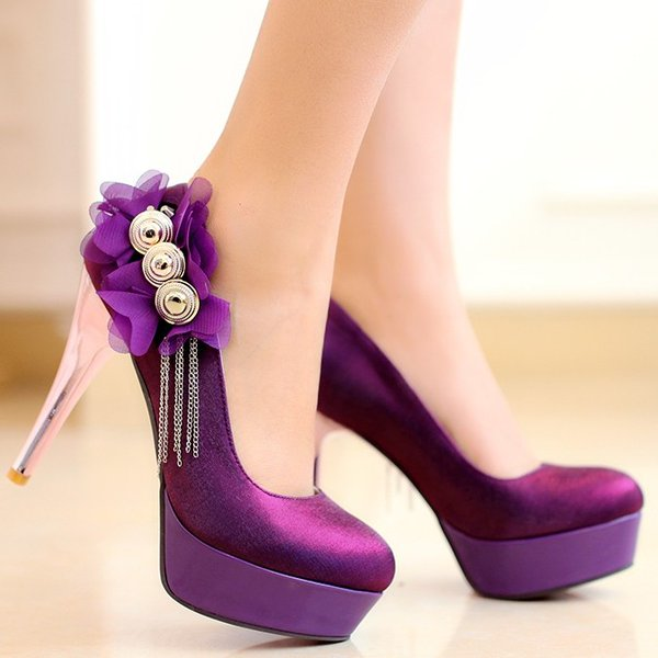 "Shoe Goals on Twitter: ""Purple high heels #purpleheels #highheels ..."