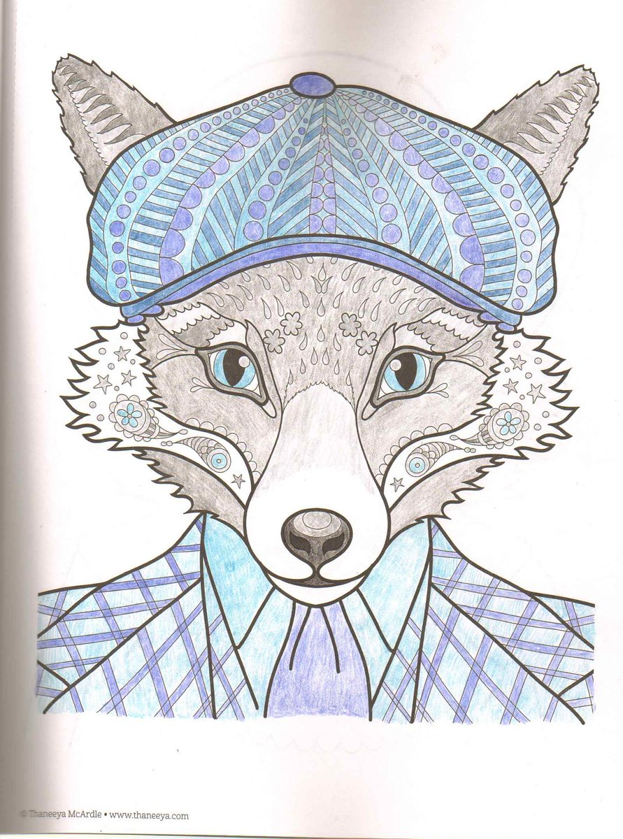 Amanda Pinchbeck On Twitter My Silver Fox From Dapper Animals Coloring Book Tco W4i7V2tXk5