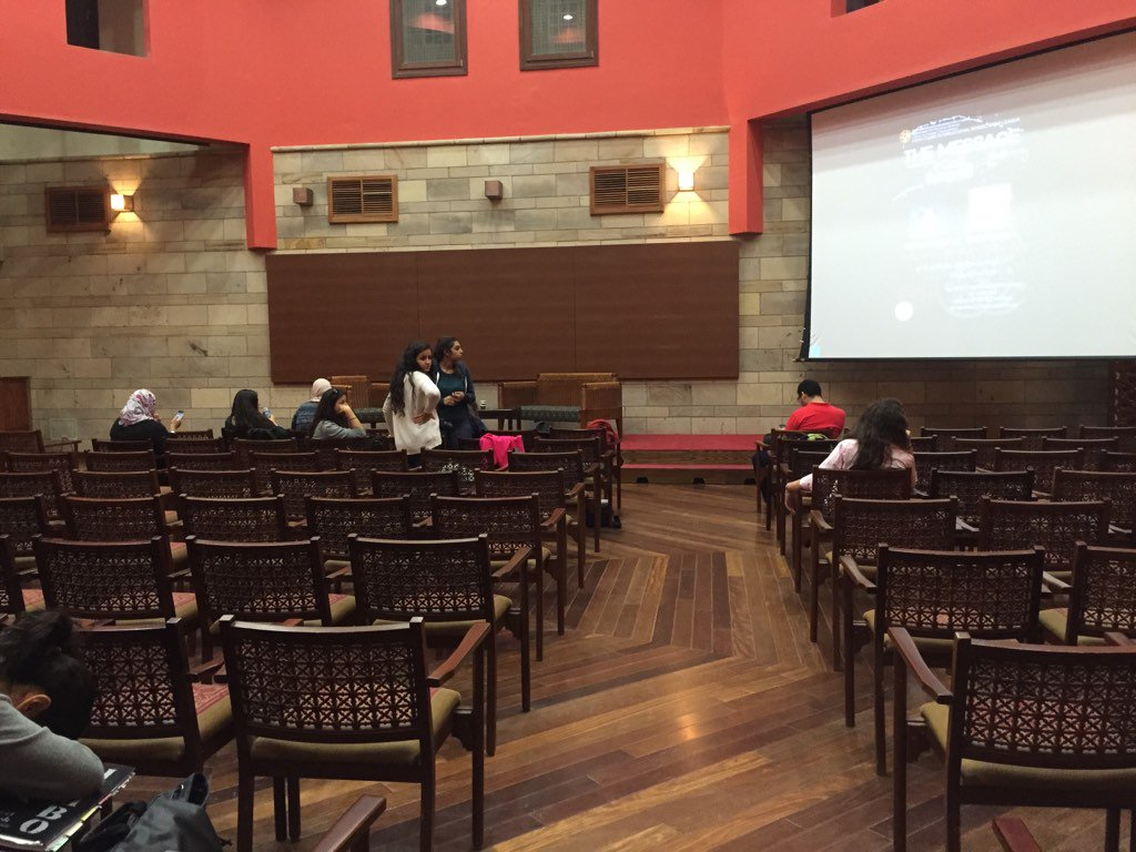 "Anxiously waiting for ""The Message"" with actress Jamila Awad and writer Mariam Naoum. #JRMC2202 https://t.co/iZJ6AEhXfV"