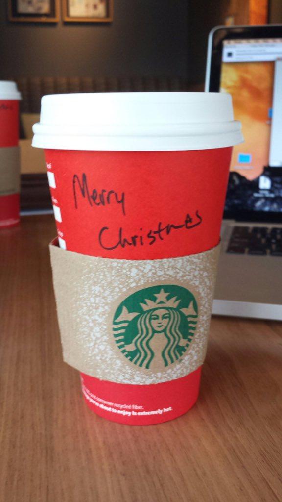 Starbucks took Merry Christmas off their cups. Well my new name is Merry Christmas #MerryChristmasStarbucks https://t.co/a6BHeqK4jK