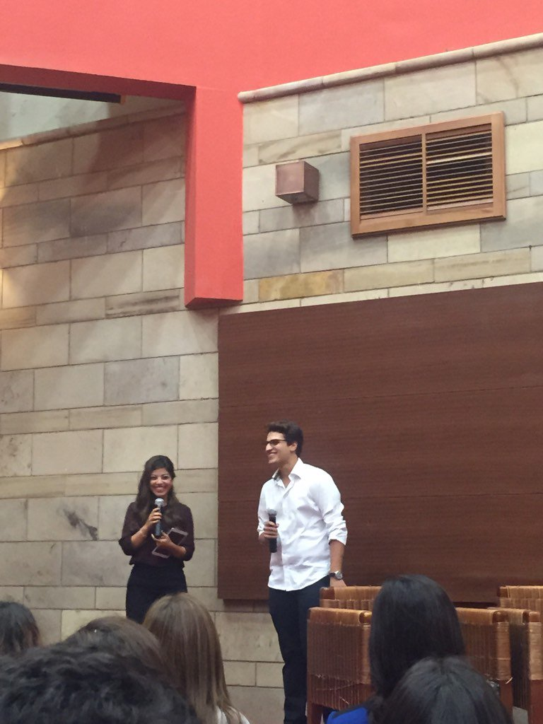 Omar Sadek and Mai Seoud welcome the AUC attendees #AUC #JRMC2202 https://t.co/avZZ0G8BaI