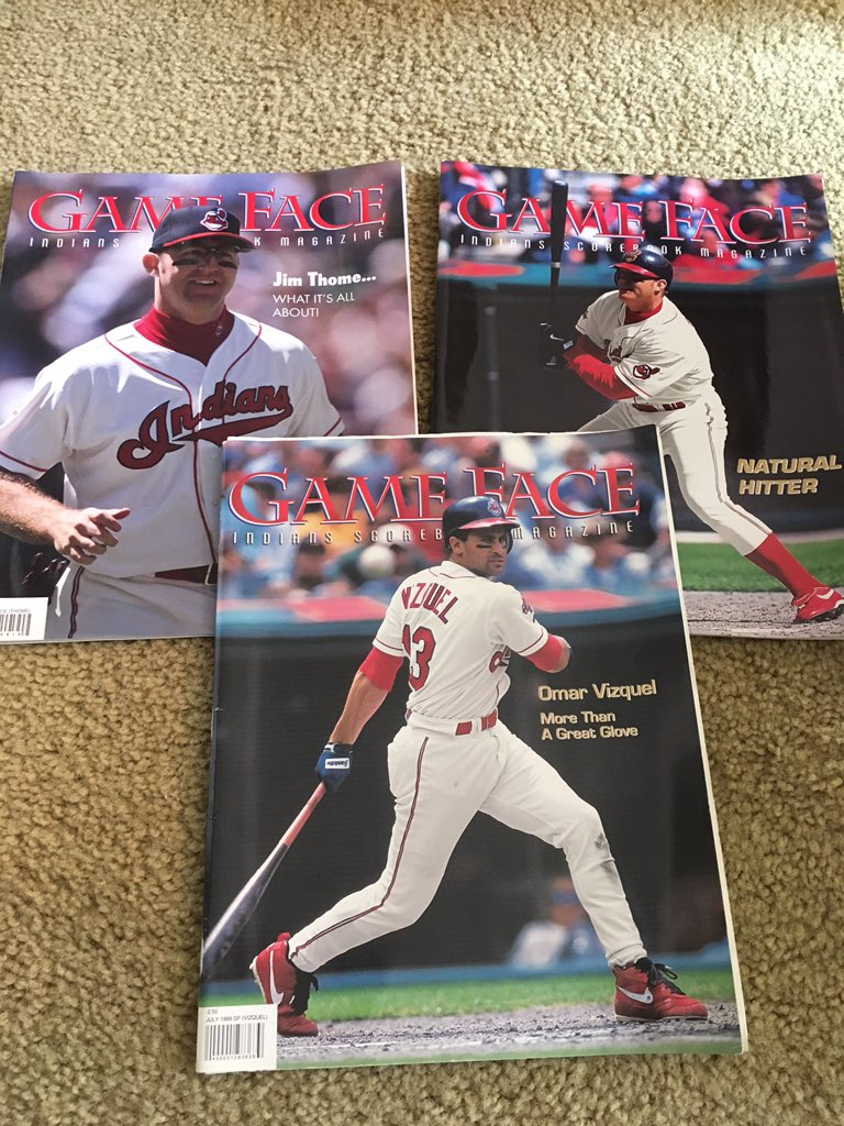 Going through some boxes and found these gems @Indians @VizquelOmar13  #GameFace #1999 #missyou https://t.co/WYmrRBtm8v