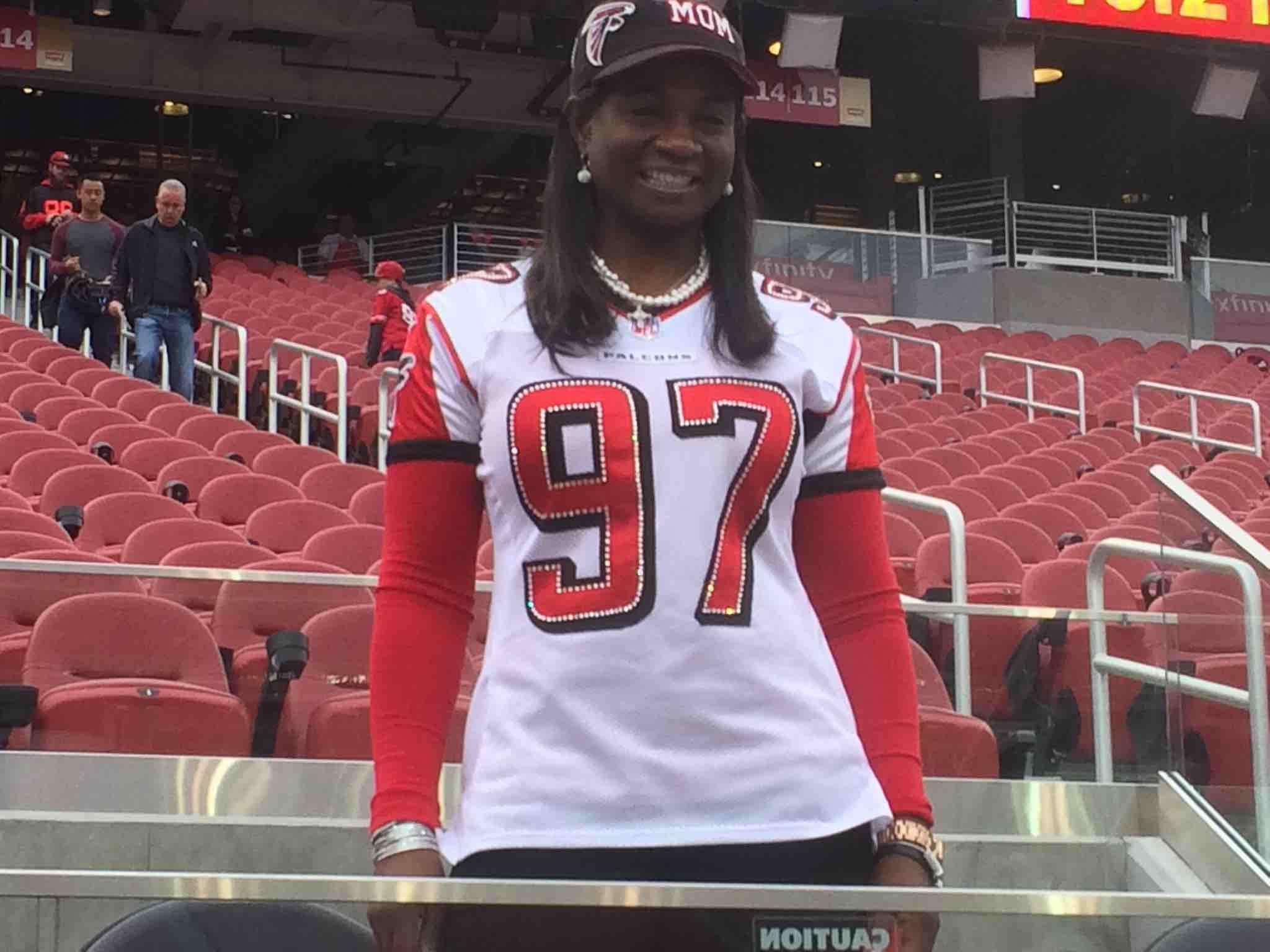 "vaughn mcclure on Twitter ""Falcons rookie Grady Jarrett s mother"