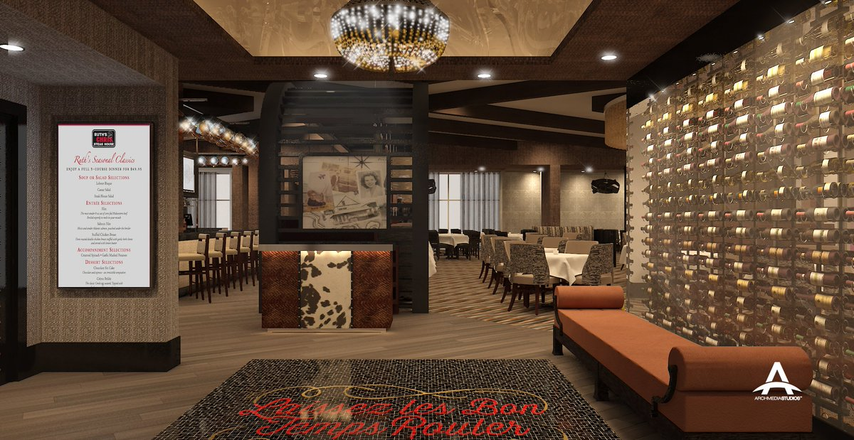 ArchmediaStudios On Twitter Proposed Ruths Chris Steak House O El Paso TX Interior Design By Beth Donner 3D 3DSMax ELP