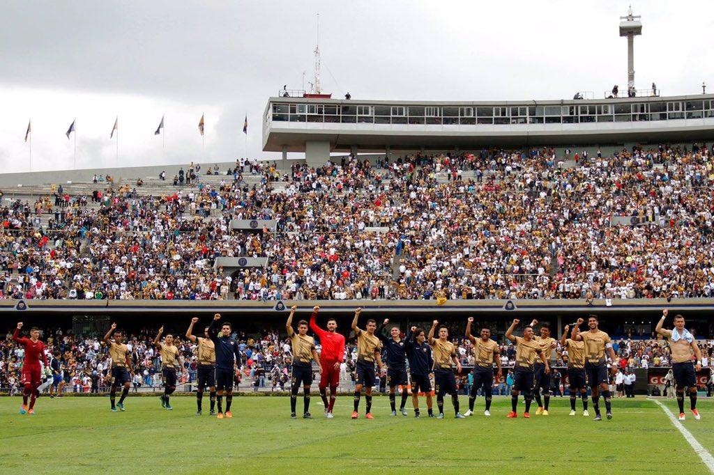 Un orgullo pertenecer al mejor equipo de México!!!! @PumasMX gracias afición por todo el apoyo !! Vamos por más