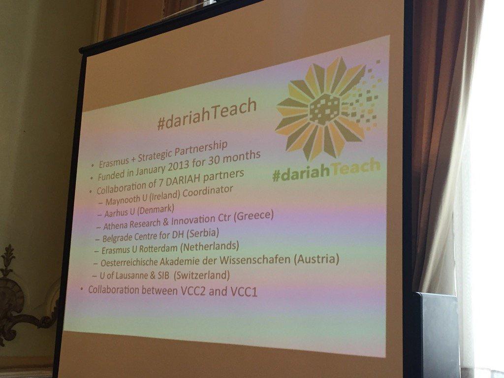 @dariahTeach @schreib100 presents the project #dariahTeach; seven partners countries https://t.co/1RAKoRbunm