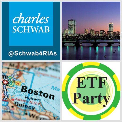 Advisors descend on Boston this week. #SchwabIMPACT @ETFtrends @iris_xyz @ETFparty #LoveThatDirtyWater