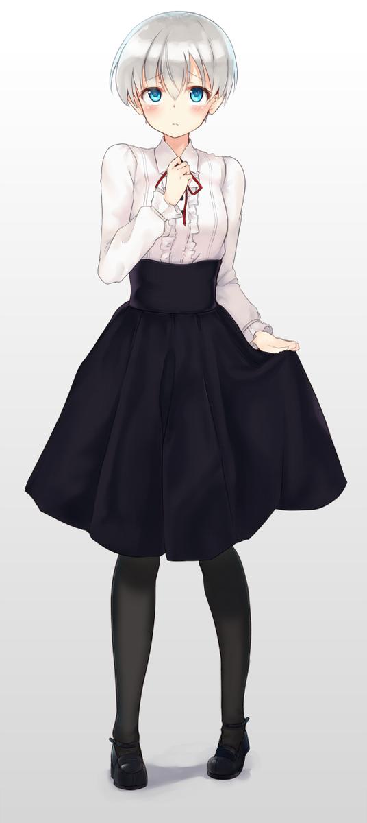 レーベちゃんに夏流行ったあの服を着せてみたよ pic.twitter.com/yqCivgza40
