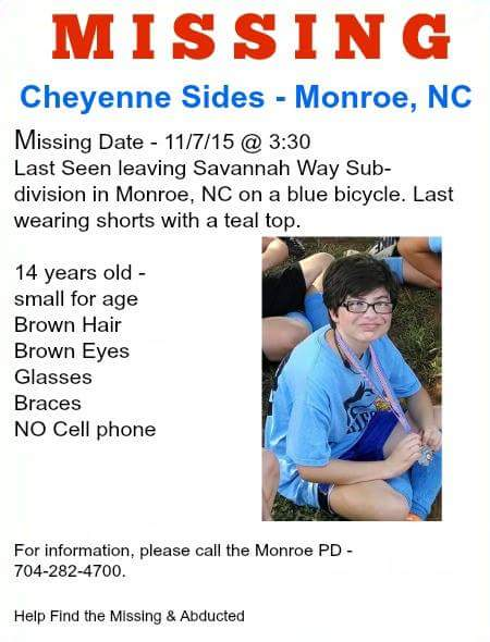 Wcnc Charlotte On Twitter Retweet To Spread The Word About Missing Teen From Monroe Https T Co Oqqvhpvrr2 Https T Co Wrqh6fhyri