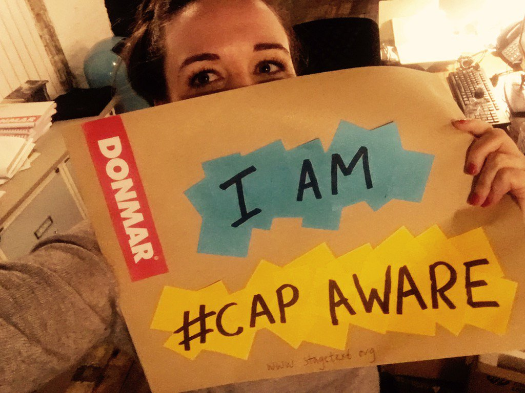 Yes. It's #capaware (ness) week @Stagetext and @DonmarWarehouse https://t.co/4GTegnIlo7