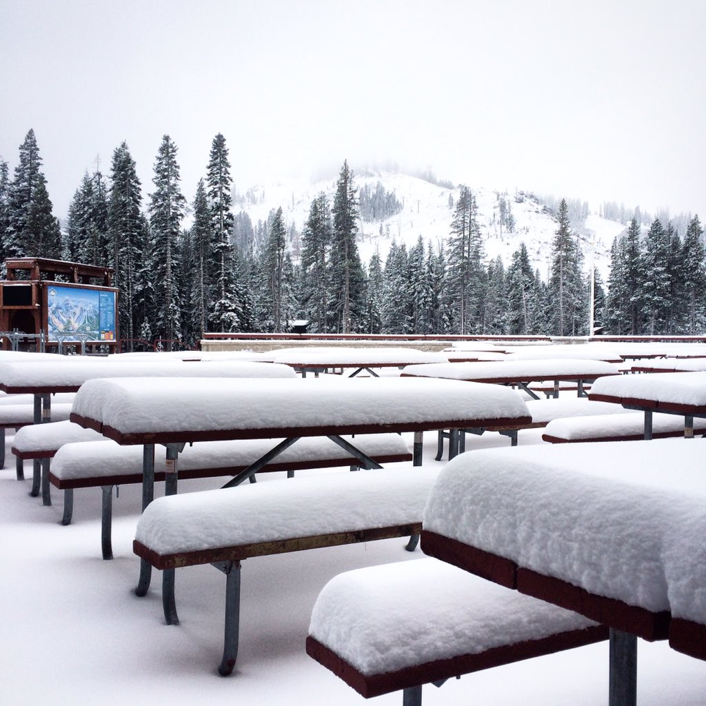 """Starting to look like winter at Sugar Bowl! 6-8"""" of snow from the first wave, with more on the way! https://t.co/J2NMhpP8eJ"""