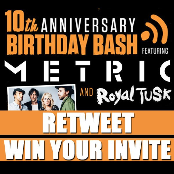 Get into the SONiC B-Day Bash feat Metric! RT before Nov 15 to be entered to win! https://t.co/ahF8YPk8Rf #sonicbday https://t.co/2D3HIwZFv8