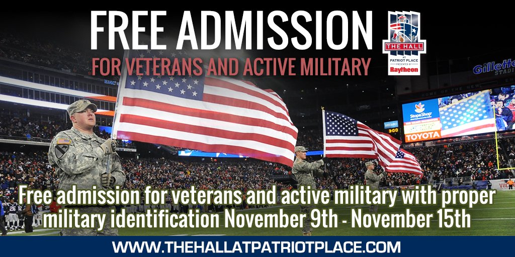 dd887d96c We re honoring veterans and active military with FREE Hall admission all  week.pic.twitter.com a7otCtQ69m