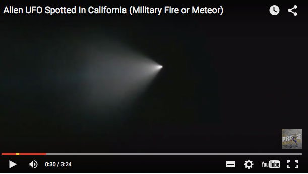 Avvistamento UFO California: misterioso test avanzato di origine extratterestre? (Video YouTube)
