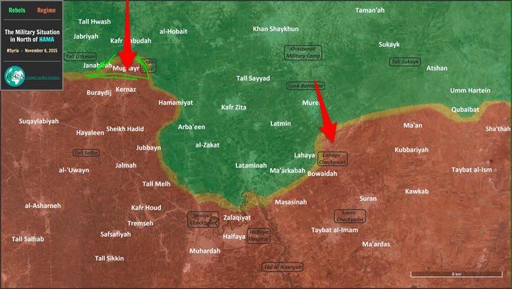Обзор боевых действий в Сирии