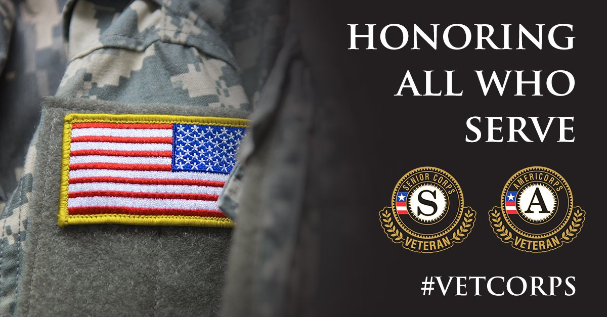 #VetCorps: Honoring 23,000+ vets in @AmeriCorps, @SeniorCorps & those who serve 780,000 vets & military families. https://t.co/yoe2uVjRju