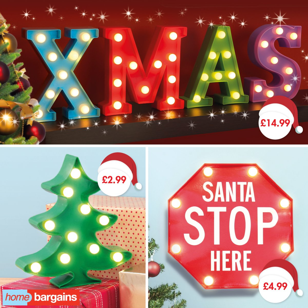 Don't miss Christmas deals on lights at Home Bargains