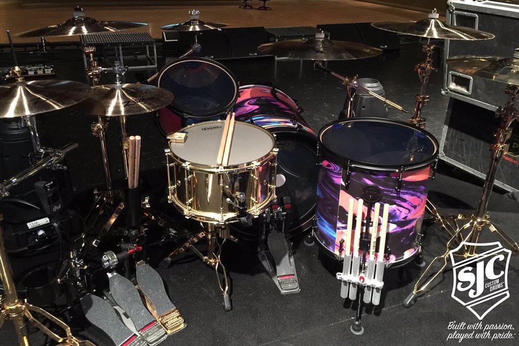 Sjc Custom Drums On Twitter Mat Nicholls Most Recent Setup From