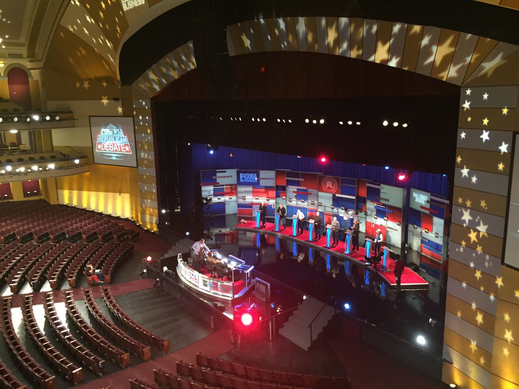 The GOP debate stage in Milwaukee. https://t.co/JKn7vIKwFM