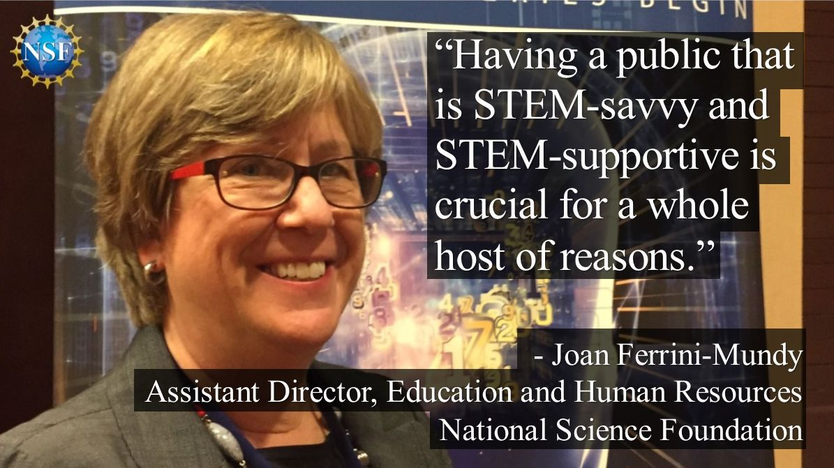 At #nsfnextgenstem Joan Ferrini-Mundy, head of @NSF_EHR, talked about benefits of STEM learning for everyone. https://t.co/yofnob7Ziq