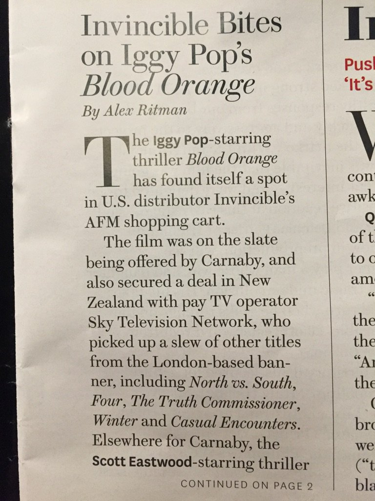 AFM: Invincible Swallows Iggy Pop's 'Blood Orange' For U.S. (Exclusive) http://www.hollywoodreporter.com/news/afm-2015-invincible-swallows-iggy-838276… via @THR