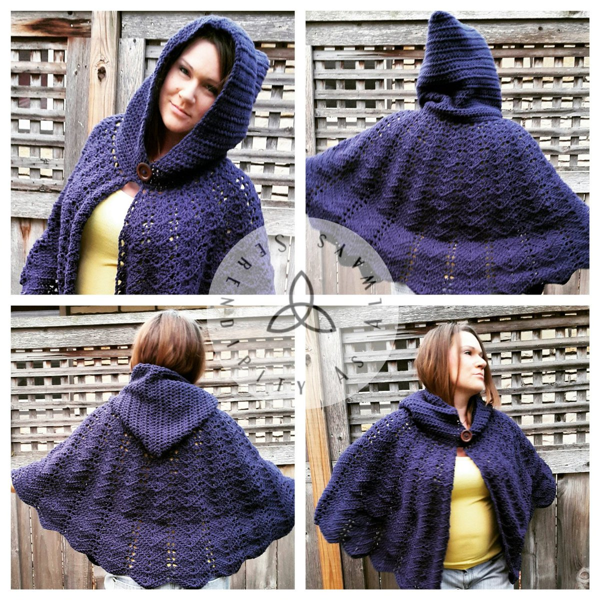 Serendipityasalways On Twitter Easy Crochet Pattern Hooded Cape