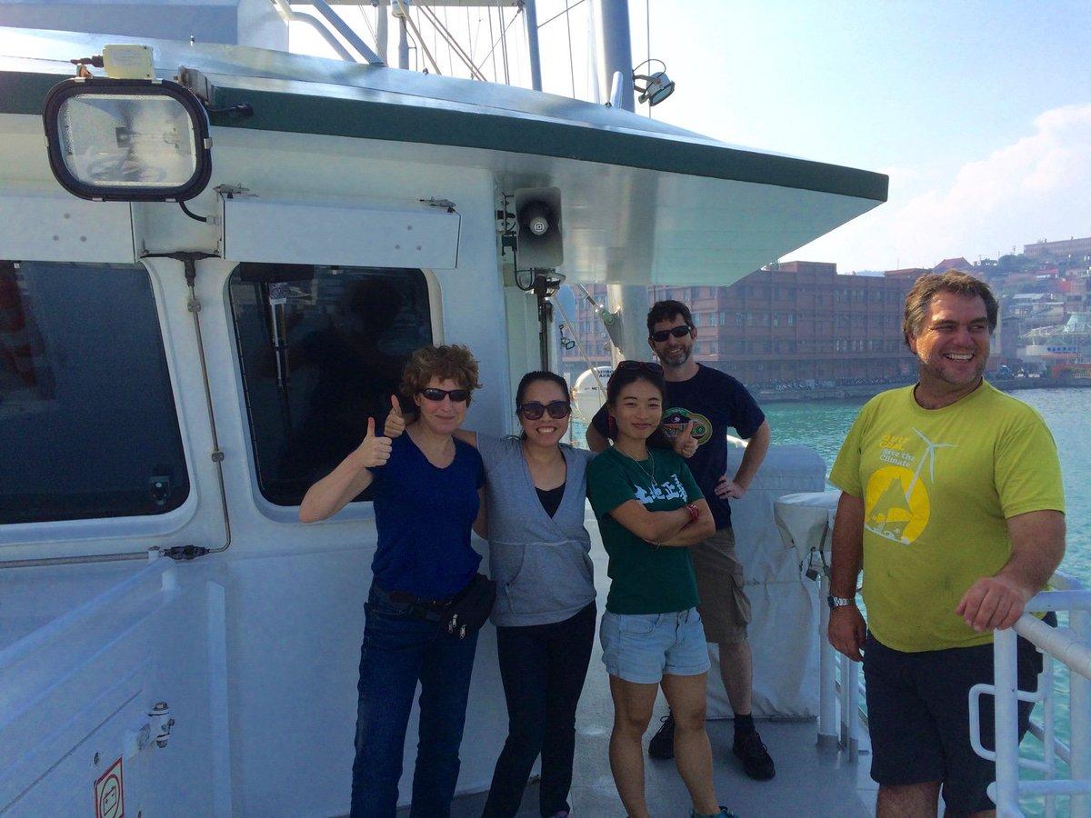 At sea, briefly, aboard the #RainbowWarrior. #OBCT15 https://t.co/aGUYvX1b5P