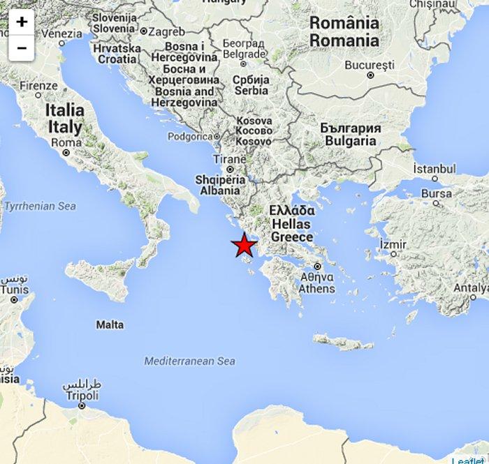 Sentito in Sud Italia il Terremoto di Oggi in Grecia 17 novembre.
