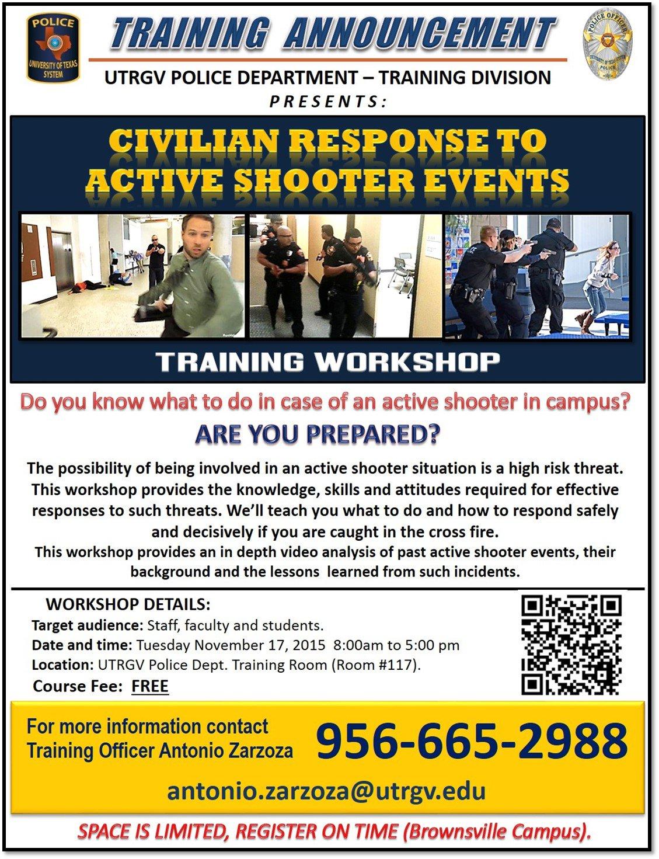 training announcement flyer