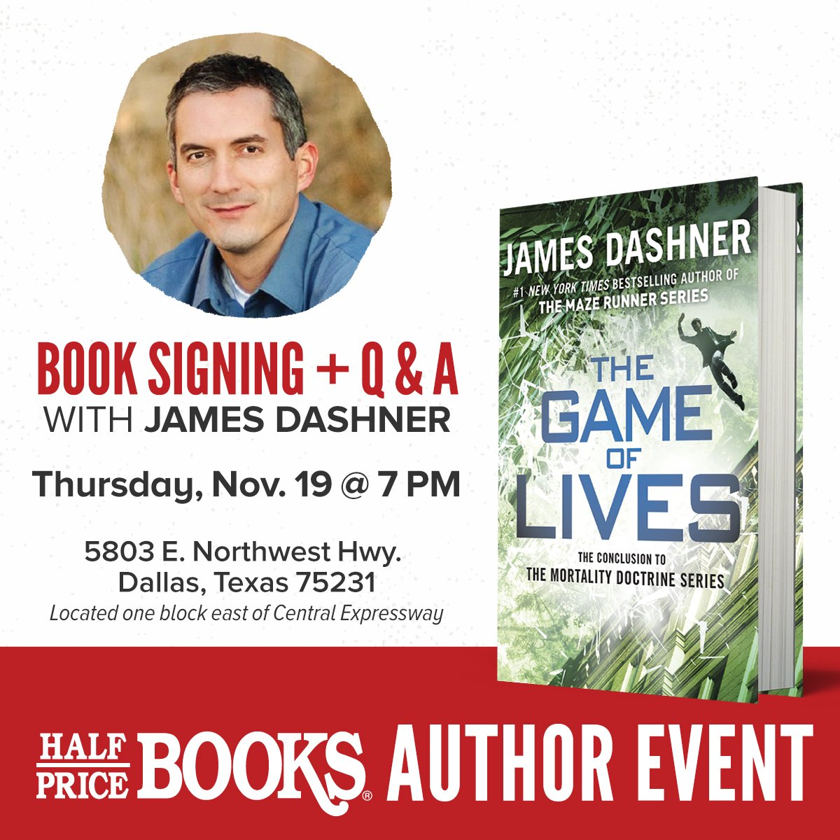 Next week at the HPB Flagship in Dallas! @jamesdashner! https://t.co/hDxuPcZ3ch https://t.co/3kYqBTryYM