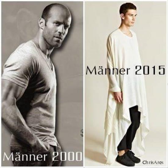 Männer früher und heute