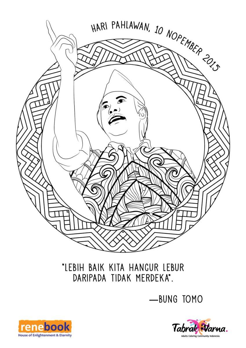 "Tabrak Warna on Twitter ""Yuk rayakan HariPahlawan dgn mewarnai Jgn lupa hastagnya HariPahlawan BungTomo HOSCOkroaminoto tabrakwarna"