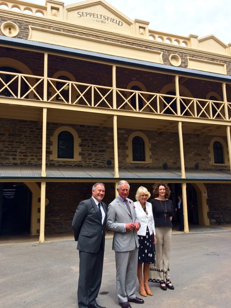 Established in 1851, Seppeltsfield Winery houses over 25,000 barrels of prized fortified wine. #RoyalVisitAustralia https://t.co/Y0De182jF5