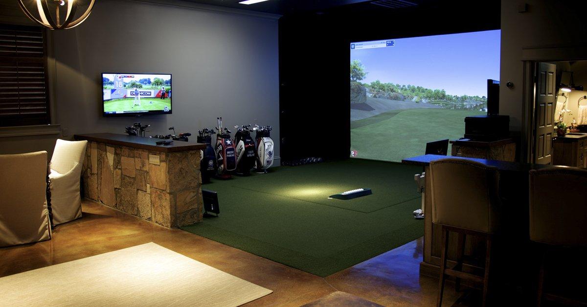 Man Cave Golf Simulator : Golf simulator room simulators and