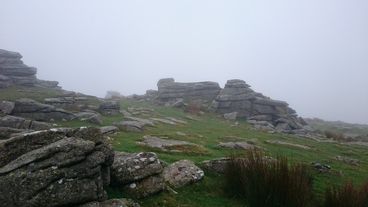 Today's #Dartmoor lunchtime Tor... in cloud and wind but lovely! (Rowtor) https://t.co/DYde6muBpR