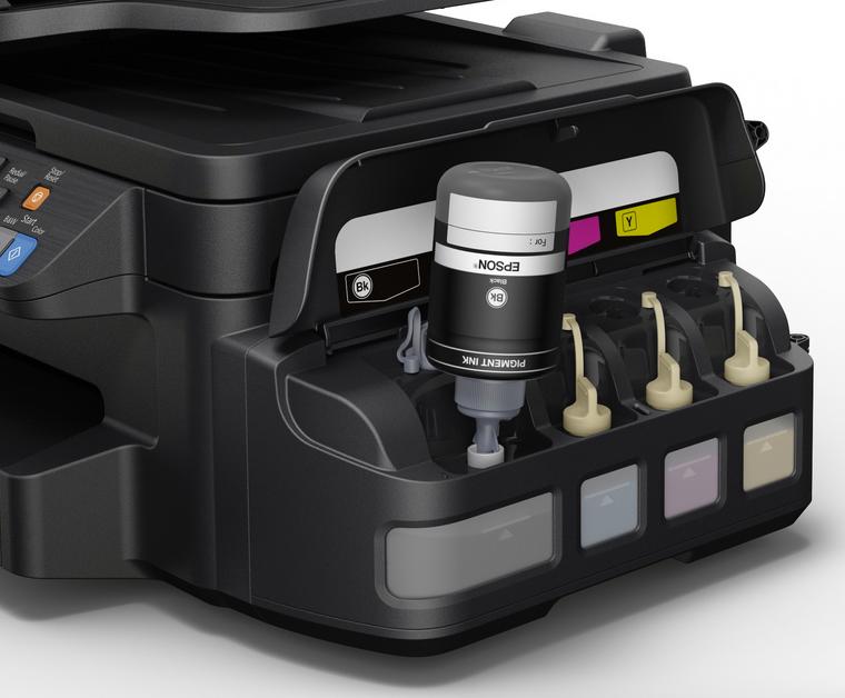 Dettaglio stampante Epson EcoTank.