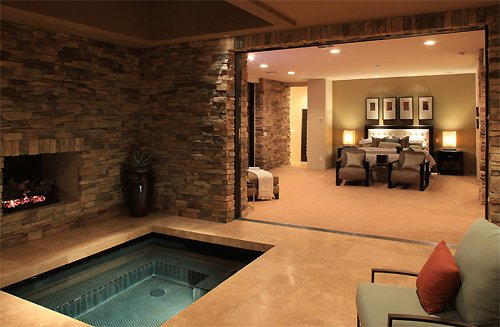 Luxury Goals On Twitter Having A Jacuzzi With A Fireplace Right Off Your Master Bedroom Https