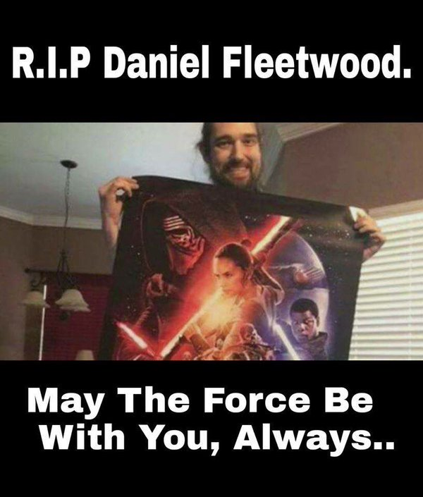 Wonderful that you got to see The Force Awakens! RIP Daniel Fleetwood. #DanielFleetwood #TheForceAwakens https://t.co/wXFZPOkk4y