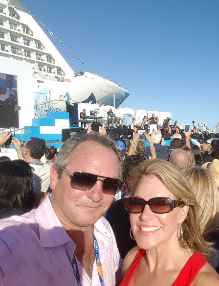 Having a blast and got engaged on @CruiseNorwegian Escape Inaugural with @pitbull #NorwegianEscape https://t.co/90xC49gj8P