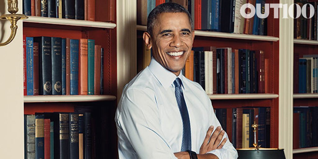 Obama poses for OUT