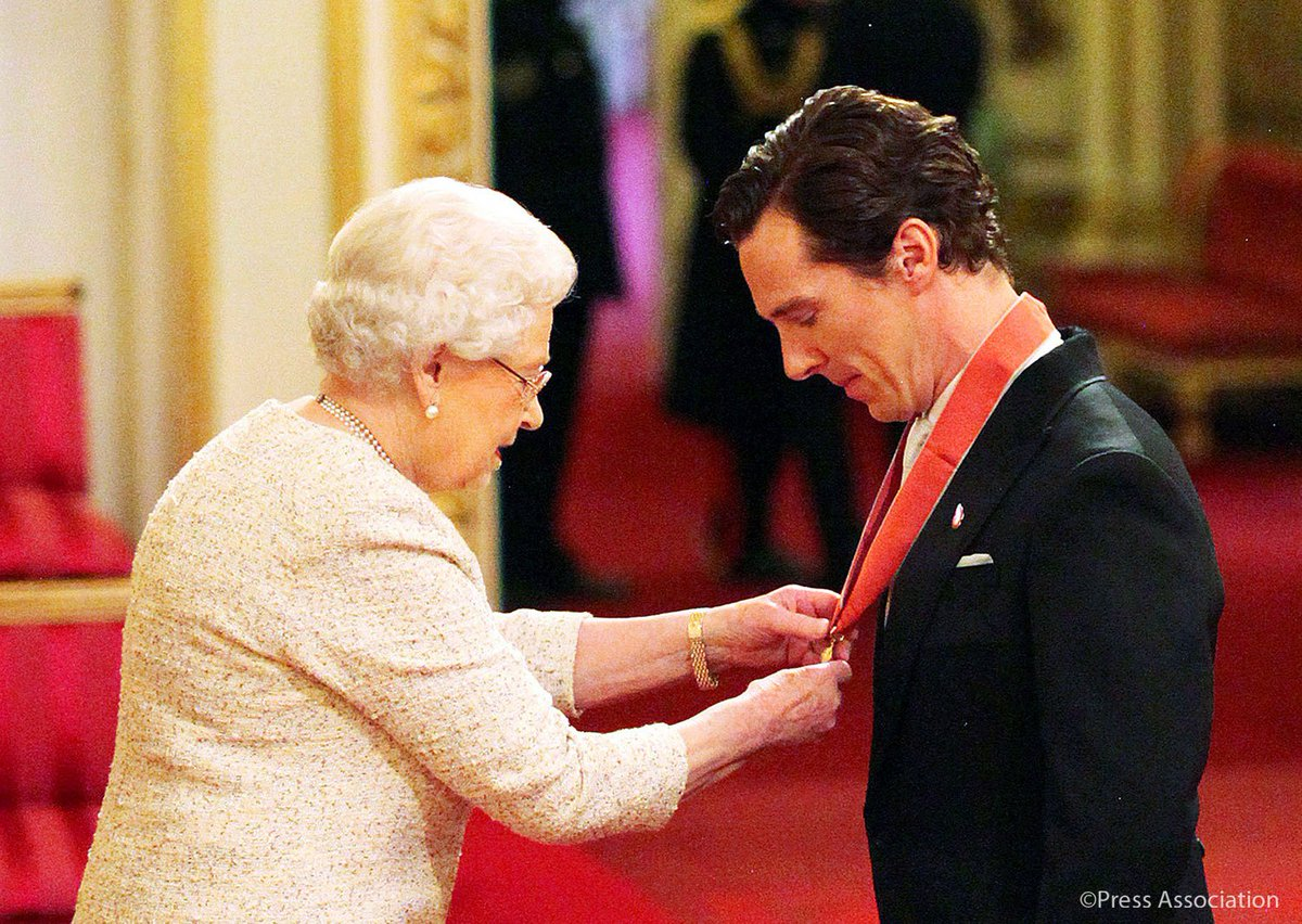 Queen honors Benedict Cumberbatch for his charity work