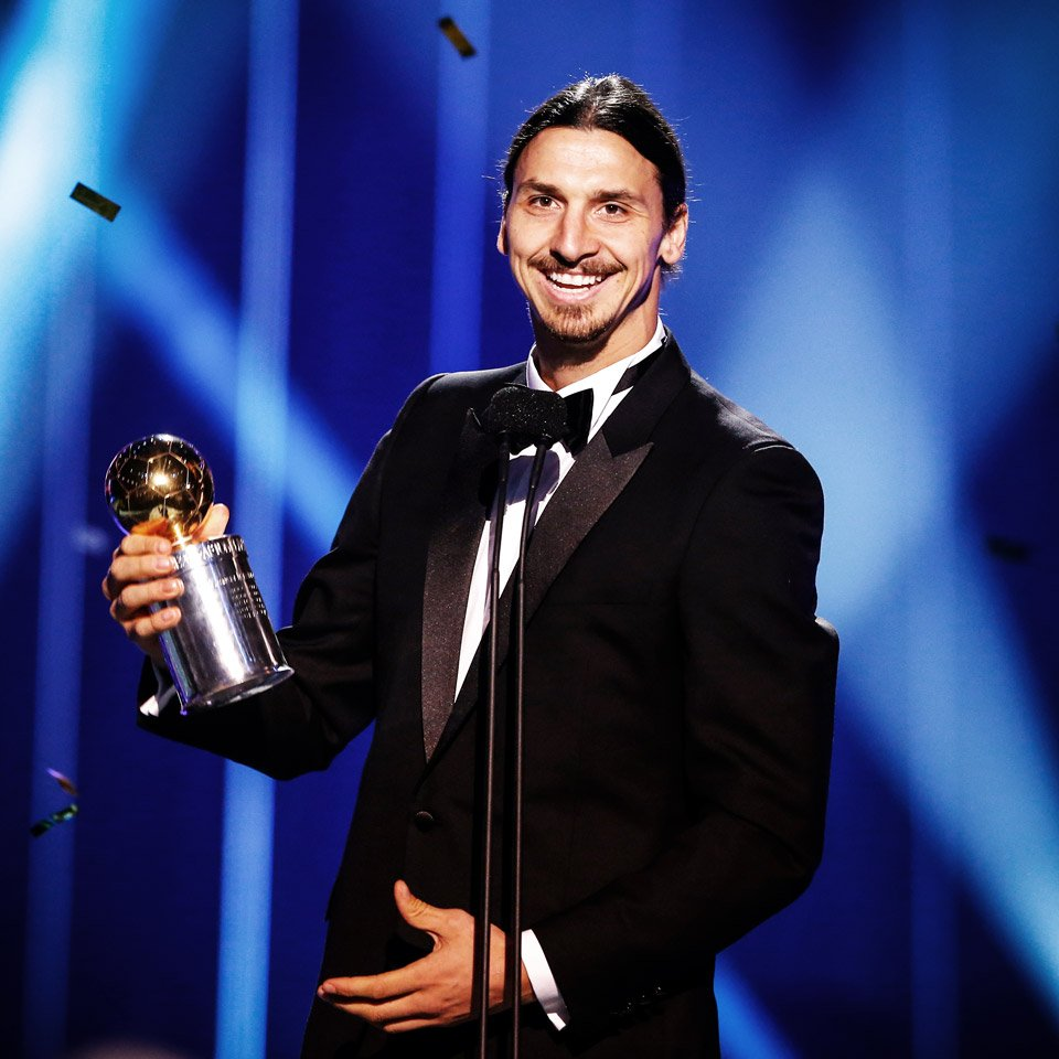 """Zlatan Ibrahimović on Twitter: """"My 10th Golden Ball, the award for Sweden's  Football Player of the Year. https://t.co/9t3gXsVNFL"""""""