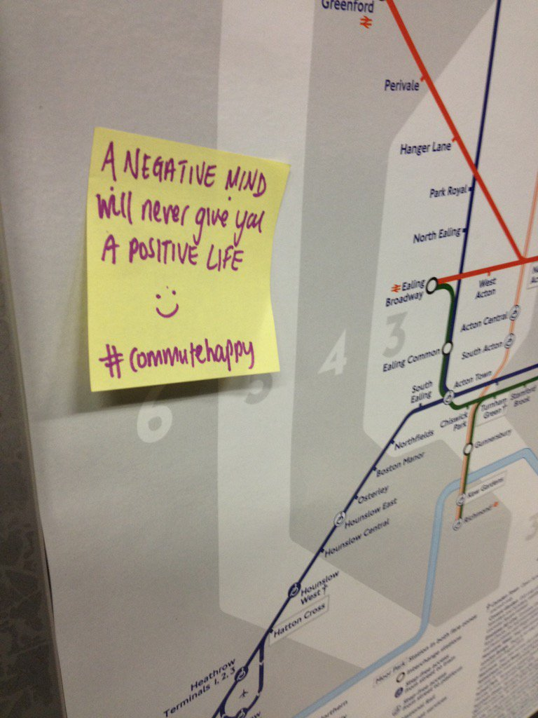 Post-it notes on London Underg...