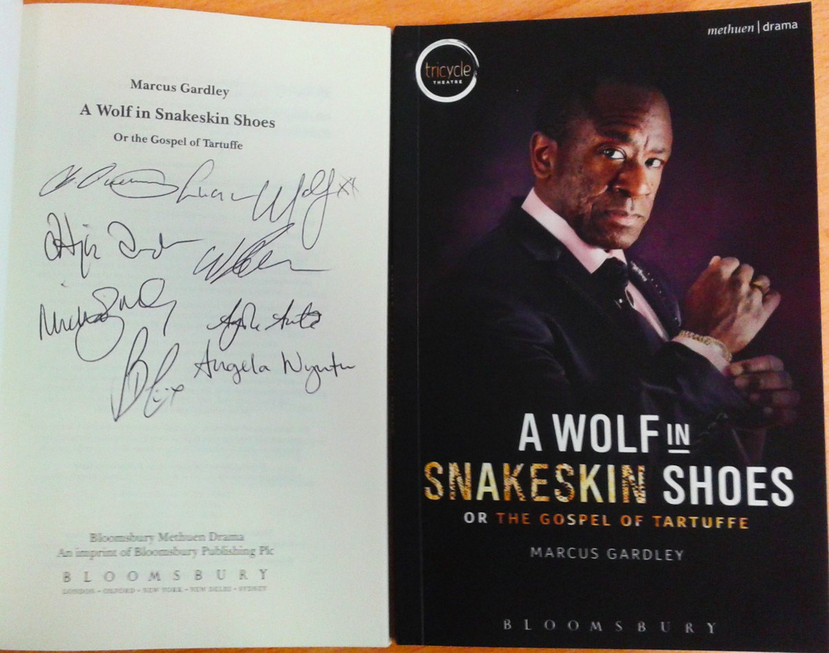 Retweet to win one of TWO SIGNED #WolfSnake scripts! Marcus Gardley's play ends this Sat: https://t.co/mTo3DrL4Fj https://t.co/jBT7AZOF2a