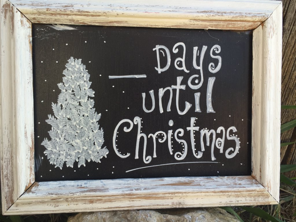 Days Till Christmas Chalkboard.Kris Foster On Twitter Days Until Christmas Chalkboard