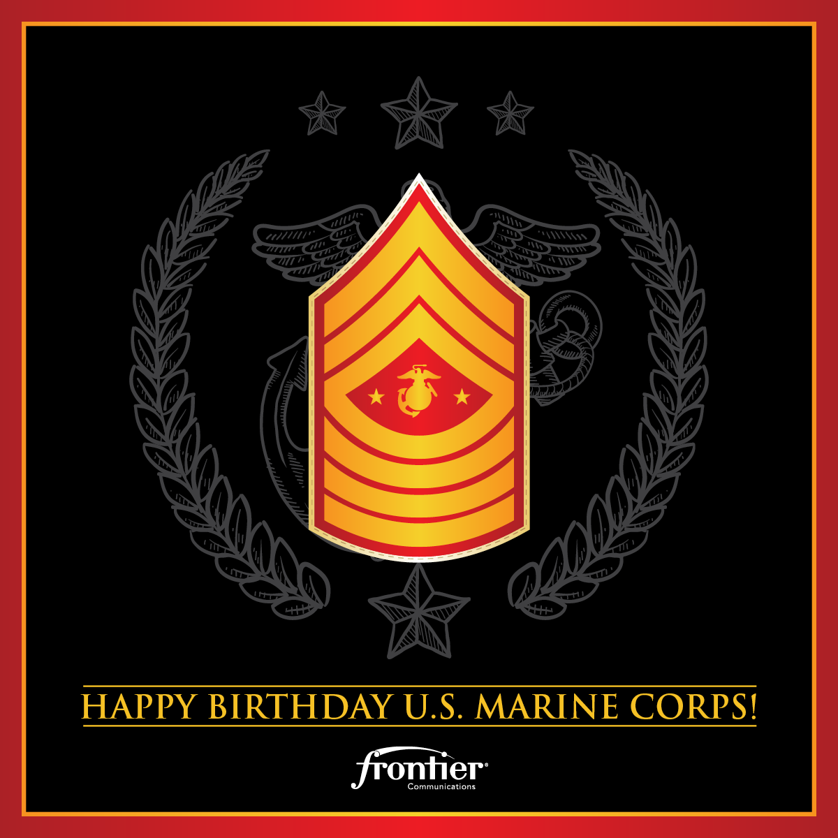 Frontier Comm On Twitter Happy Birthday Usmc Thank You To All