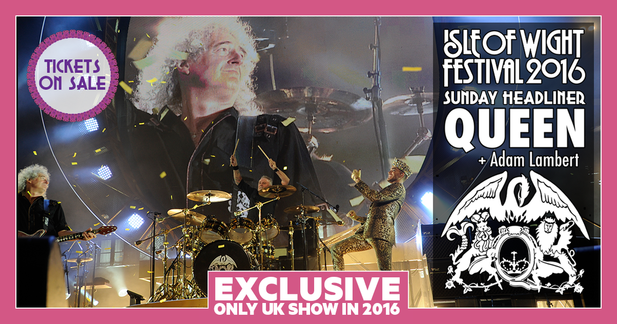 THIS IS IT… Isle of Wight Festival 2016 Sunday night headliner!! @QueenWillRock with @adamlambert #BeThere https://t.co/InhLBLqulI