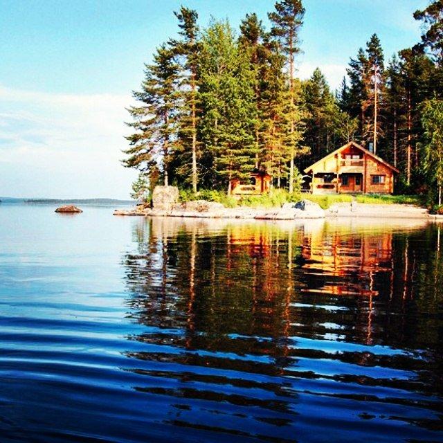 домик у озера карелия физические