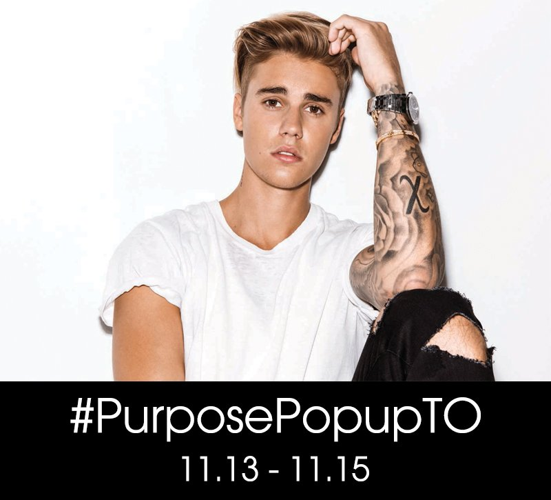 Hey Canada… #PurposePopupTO